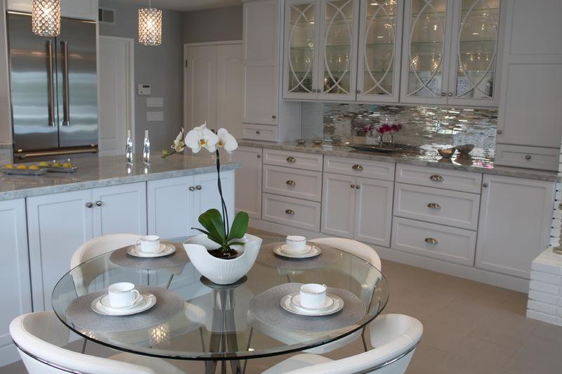 Contemporary Kitchen Mirror Tile